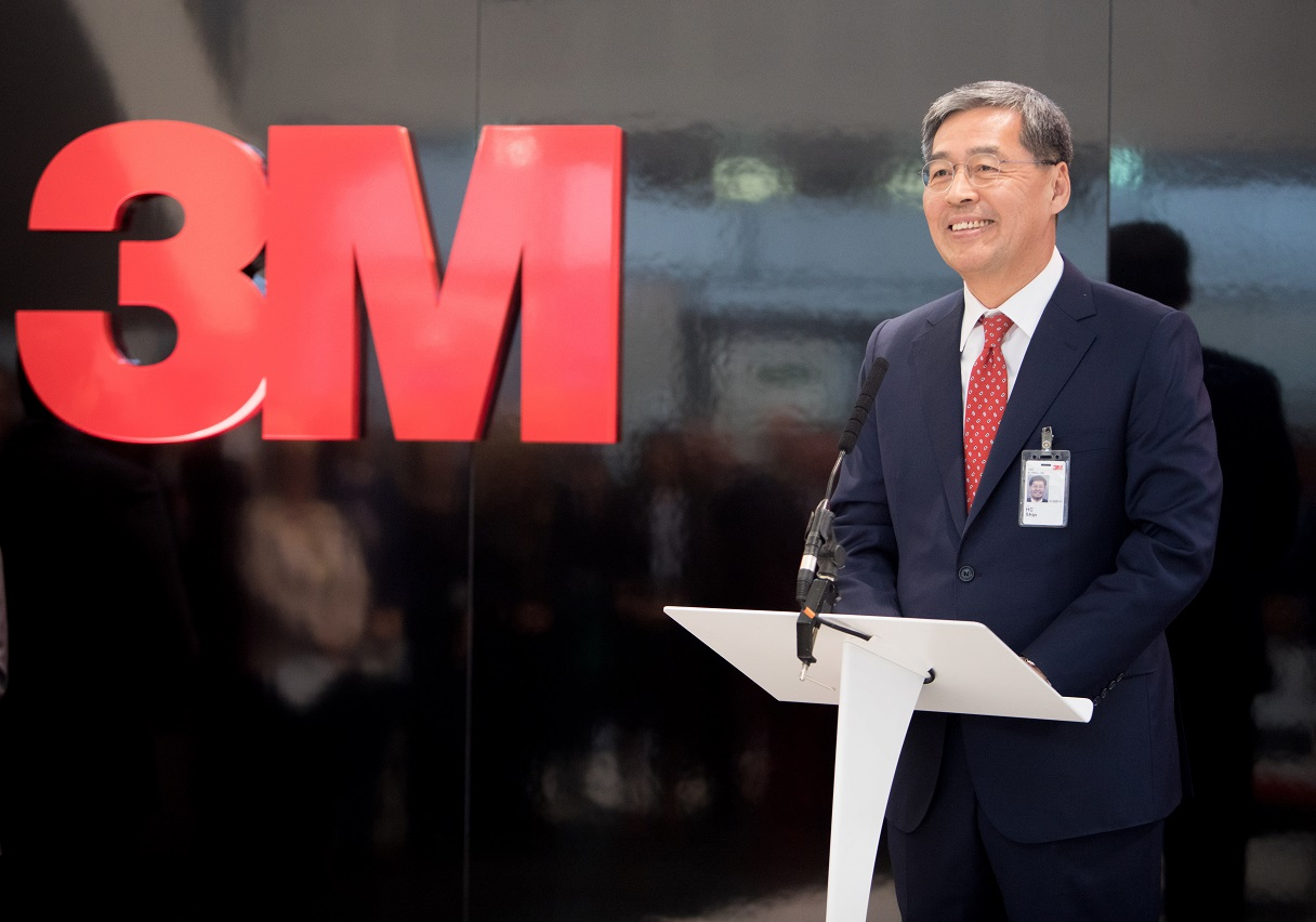 3M Vice Chair and Executive Vice President HC Shin at the opening of the company's new campus in Loughborough